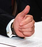 All Ok!. Man shows the thumb Stock Image
