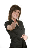 All ok. Woman with a gesture all ok Royalty Free Stock Photography