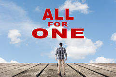 All for one. Concept of team, together, group Stock Photography