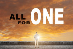 All for one. Concept of team, together, group Royalty Free Stock Images