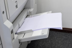 All-in-one copier and printer. The all-in-one copier and printer Stock Image