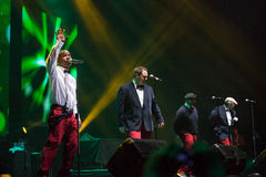 All-4-One Performance. JAKARTA, INDONESIA - OCTOBER 6, 2013: American R&B group All-4-One performs at the 6th LA Lights Java Soulnation Festival 2013 on October Stock Image