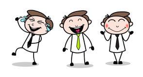 Collection Of three Happy Cartoon Professional Businessman. Vector design stock illustration