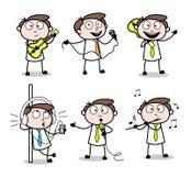 Collection Of Various Music Cartoon Professional Businessman Vectors. Vector design stock illustration