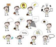 Various thinking & wondering Cartoon Professional Businessmanconcepts. Various thinking & wondering Cartoon Professional Businessman concepts vector design royalty free illustration