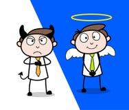 Good & Evil Cartoon Professional Businessman. Vector design royalty free illustration