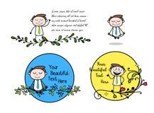 Collection Of Yoga & Meditation Cartoon Professional Businessman. Vector design royalty free illustration