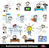 Cartoon Professional Businessman in various actions. Vector design vector illustration