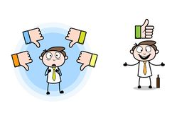 Thumb up & Down Cartoon Professional Businessman vectors royalty free illustration