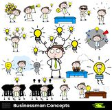 Collection Of Various idea concepts Professional Businessman. Vector design vector illustration