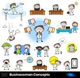Bad things happening in office Cartoon Professional Businessman. Vector design stock illustration
