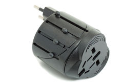 All-in-one Universal Travel Adapter. (Plug Converter US UK EU AU Royalty Free Stock Photo