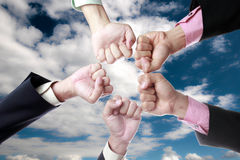 All for one ,we are working together Royalty Free Stock Images