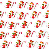 All over background -Christmas stocking - Sugar cane Stock Photography