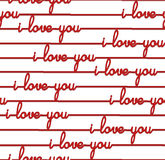 All over background - Seamless Pattern for Valentine's Day I love you Stock Image