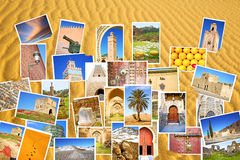 from all over the morocco  in a desert  patchwork Royalty Free Stock Images