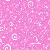 Seamless Pink Swirls and curls Print Royalty Free Stock Image