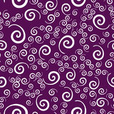 All-over Vintage Childish Swirls Pattern in Violet Color. Royalty Free Stock Photo
