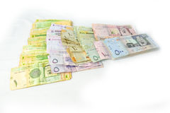 All paper currency of Saudi Arabia Stock Photography