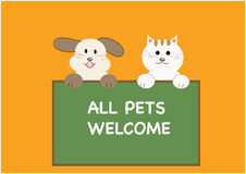 All pets welcome concept Stock Photography