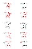 All poker hands Stock Photography