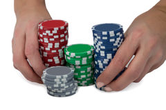 All-in in poker Royalty Free Stock Photo
