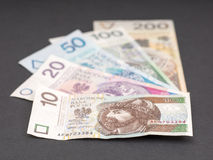 All polish banknotes Stock Photos