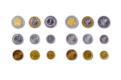 All polish coins Royalty Free Stock Photos