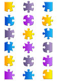 All possible shapes of jigsaw puzzle Stock Photography