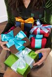 All the presents for me Stock Photos