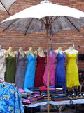 All the pretty dresses. Colorful dresses at the market in Chiang Mai, Thailand Royalty Free Stock Photo
