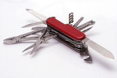 All-purpose Knife. Fully opened swiss army knife Stock Photography