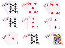 All the ranked hands in poker Stock Images