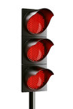 All red traffic light Stock Image