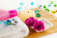 All for relaxation in bathroom Stock Photos