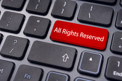 All rights reserved message on keyboard Stock Photo