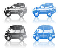 All-road vehicle and minivan. A Vector  illustration of  crossover and minivan Royalty Free Stock Photo