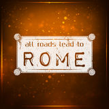 All roads lead to Rome Stock Image