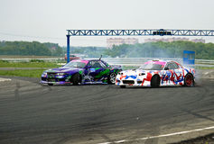 All-Russian competitions in drifting Stock Photos