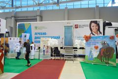 Healthy lifestyle exhibition in Moscow Royalty Free Stock Image
