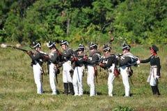 All-ryss militär historisk festival Arkivbilder