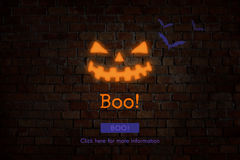 All Saint's Eve Boo Halloween Icon Concept Royalty Free Stock Image