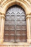 All Saints Cathedral door Patthar Girja allahabad india. Outstanding ancient colonial basilica cathedral door Stock Image