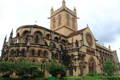 All Saints Cathedral Patthar Girja allahabad india. British colonial basilica cathedral set in a park Royalty Free Stock Photos