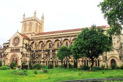 All Saints Cathedral Patthar Girja allahabad india. Outstanding ancient british colonial basilica cathedral in large park Royalty Free Stock Photography