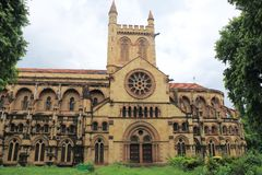 All Saints Cathedral Patthar Girja allahabad india. Outstanding ancient british colonial basilica cathedral in large park Royalty Free Stock Images