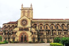 All Saints Cathedral Patthar Girja allahabad india. Outstanding ancient british colonial basilica cathedral in large park Royalty Free Stock Photos