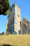 All Saints church, Godshill, Isle of Wight. Stock Photos