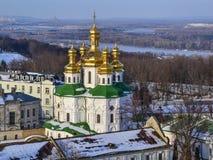 All Saints' Church of Kiev Pechersk Lavra Christian Monastery. All Saints' Church of Kiev Pechersk Lavra Monastery in winter. Ukrainian Baroque, 17th century Stock Photography
