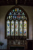 All Saints Church in Langport Stained Glass above Altar Royalty Free Stock Image